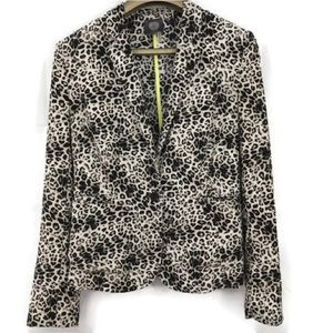 Vince Camuto Leopard Print Long Sleeve Blazer